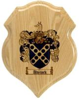 adecock-family-crest-plaque