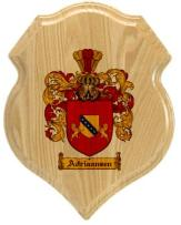 adriaansen-family-crest-plaque
