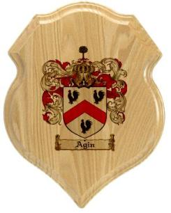 agin-family-crest-plaque