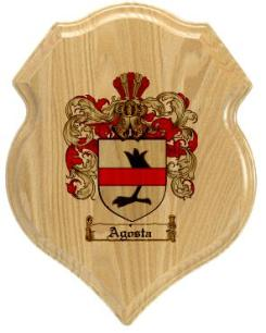 agosta-family-crest-plaque
