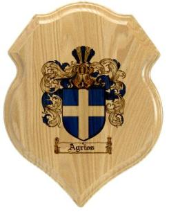 agrios-family-crest-plaque