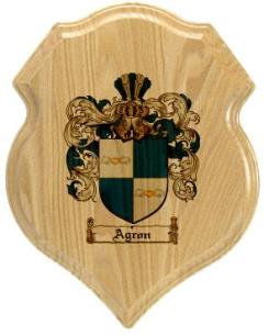 agron-family-crest-plaque