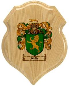 aidie-family-crest-plaque