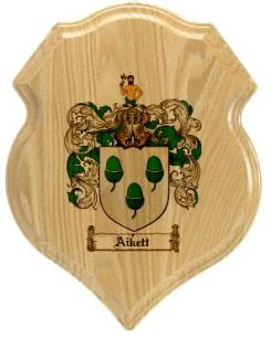 aikett-family-crest-plaque