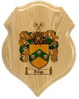 ainge-family-crest-plaque