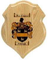 aiscough-family-crest-plaque