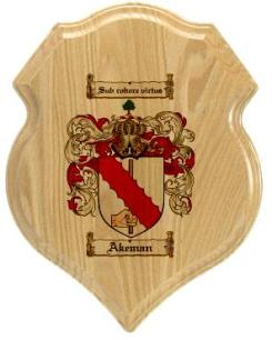 akeman-family-crest-plaque