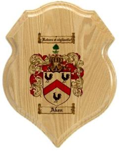 aken-family-crest-plaque