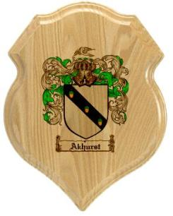 akhurst-family-crest-plaque