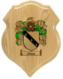akres-family-crest-plaque