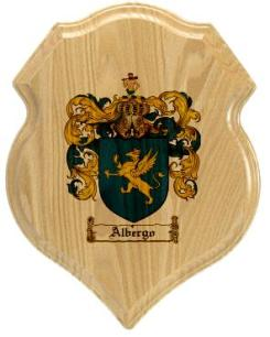 albergo-family-crest-plaque