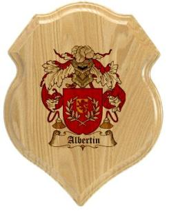 albertin-family-crest-plaque