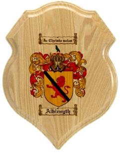 albirnyth-family-crest-plaque