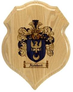 aldebert-family-crest-plaque